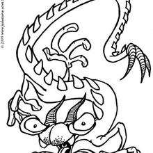 Coloriage d'un monstre dragon - Coloriage - Coloriage GRATUIT - Coloriage GRATUIT MONSTRE - Coloriage MONSTRE A IMPRIMER