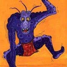 Le monstre - Dessin - Dessin FETES - Dessin HALLOWEEN - Images HALLOWEEN