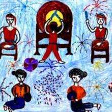 Dessin d'enfant : Le Nouvel An au Vietnam