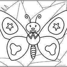 Coloriage du papillon