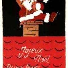 Le Père-Noël dans la cheminée