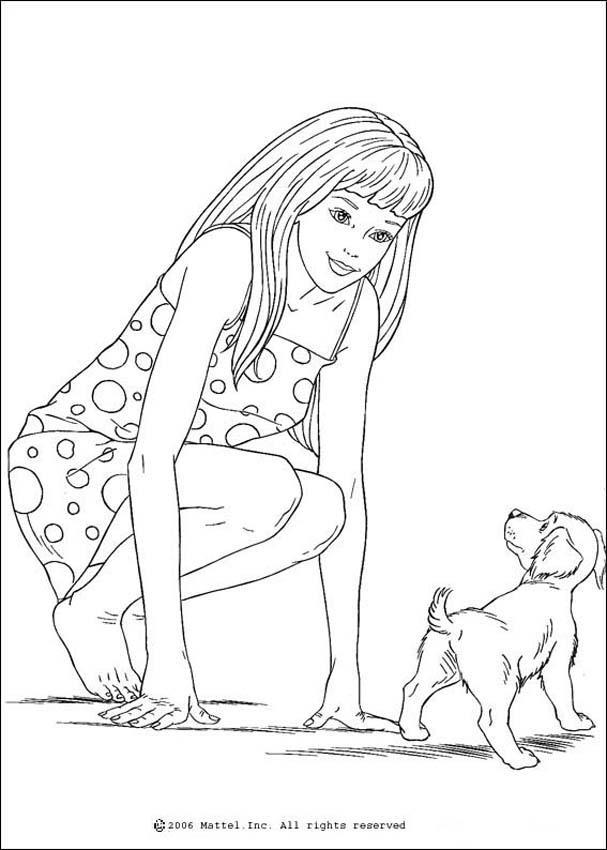 Coloriages coloriage du petit chien de barbie fr - Dessin petit chien ...
