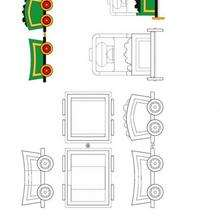 Coloriage du petit train vert de Oui-Oui - Coloriage - Coloriage OUI-OUI - Coloriage TRAIN DE OUI-OUI