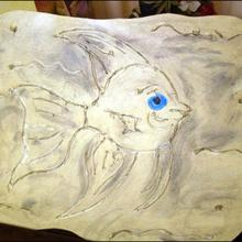 Le poisson en relief - Activités - BRICOLAGE DECO
