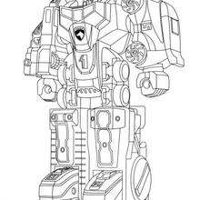 Coloriage d'un robot de combat - Coloriage - Coloriage DESSINS ANIMES - Coloriage POWER RANGERS - Coloriage ROBOT POWER RANGERS