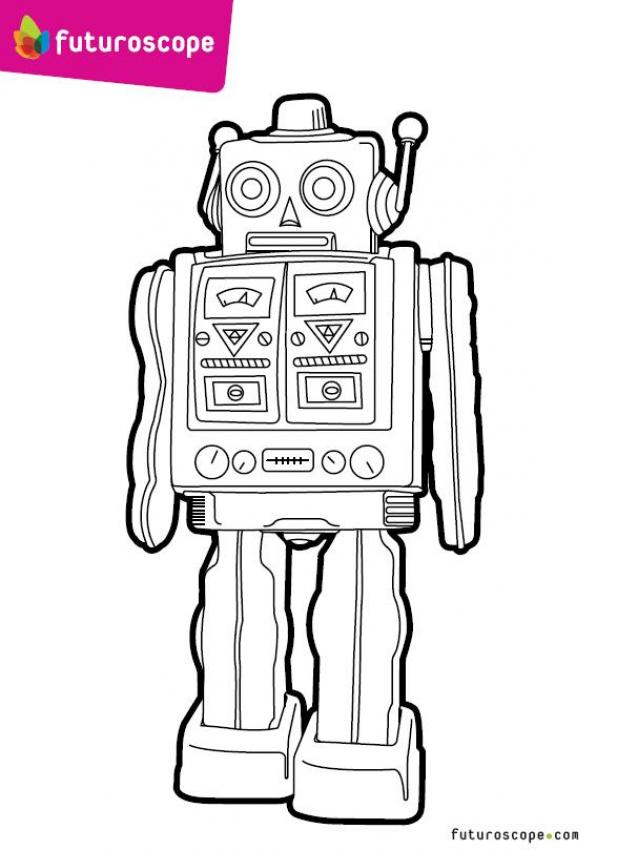 Coloriages un robot - Coloriage de robot ...