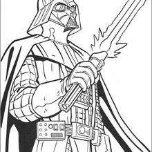 Coloriage STAR WARS du sabre lazer de Dark Vador - Coloriage - Coloriage FILMS POUR ENFANTS - Coloriage STAR WARS - Coloriage DARK VADOR