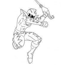 Coloriage du saut du ninja - Coloriage - Coloriage DESSINS ANIMES - Coloriage POWER RANGERS - Coloriage NINJA POWER RANGERS