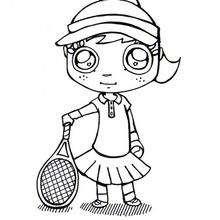 Coloriage sur le tennis - Coloriage - Coloriage SPORT - Coloriage TENNIS