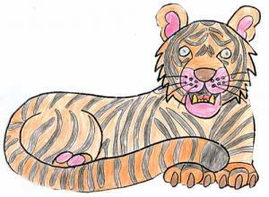 Comment dessiner le tigre - Comment dessiner un tigre ...