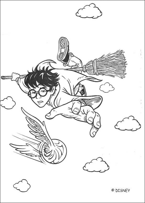 quidditch coloring pages - coloriages le vif d 39 or au quidditch
