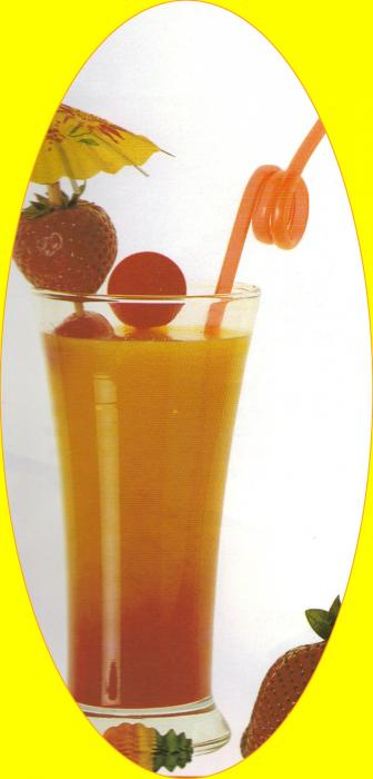 Le tropical Sunrise - Activités - RECETTE ENFANT - Cocktails pour enfants