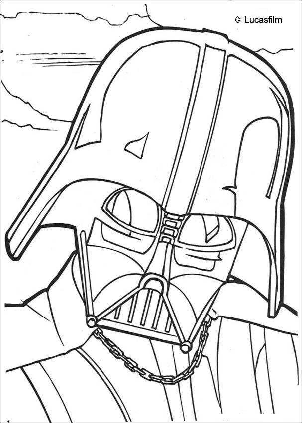 Coloriages Coloriage Star Wars Du Visage Du Seigneur Noir
