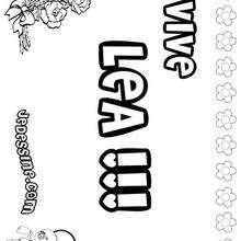Lea - Coloriage - Coloriage PRENOMS - Coloriage PRENOMS LETTRE L