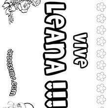 Leana - Coloriage - Coloriage PRENOMS - Coloriage PRENOMS LETTRE L