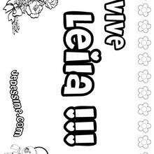 Leila - Coloriage - Coloriage PRENOMS - Coloriage PRENOMS LETTRE L
