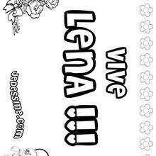 Lena - Coloriage - Coloriage PRENOMS - Coloriage PRENOMS LETTRE L