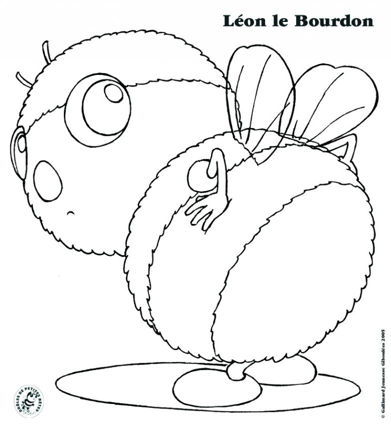 Coloriages coloriage l on le bourdon - Coloriage drole a imprimer ...
