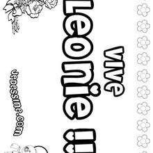 Leonie - Coloriage - Coloriage PRENOMS - Coloriage PRENOMS LETTRE L