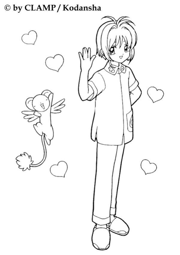 Coloriages coloriage des amis de la card captor fr - Coloriage manga en ligne ...