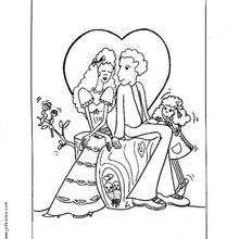 Coloriage d'un couple d'amoureux