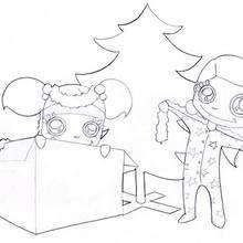 Coloriage des jouets de Noel