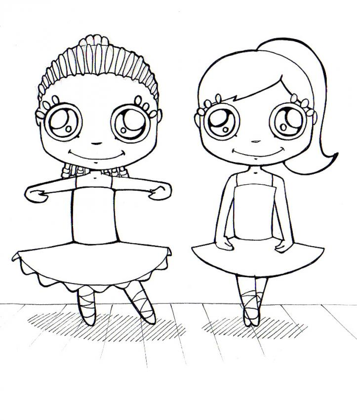 dancing girls coloring pages - photo#20