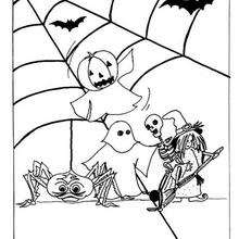 Coloriage d'Halloween : Coloriage de fantômes