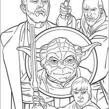 Coloriage STAR WARS des Jedi