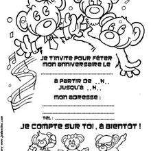 Coloriage d'oursons