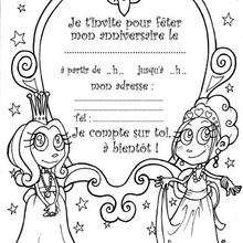 Coloriage Invitation Anniversaire.Coloriages Invitation Princesse Fr Hellokids Com