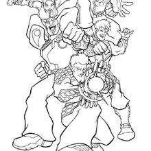Coloriage des super héros - Coloriage - Coloriage DESSINS ANIMES - Coloriage ACTION MAN