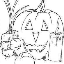 Coloriage des symboles d'Halloween  - Coloriage - Coloriage FETES - Coloriage HALLOWEEN - Coloriage HALLOWEEN A IMPRIMER