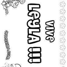 Leyla - Coloriage - Coloriage PRENOMS - Coloriage PRENOMS LETTRE L