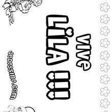 Lila - Coloriage - Coloriage PRENOMS - Coloriage PRENOMS LETTRE L