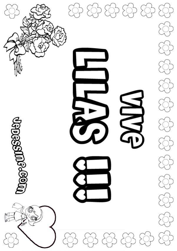 Coloriage : Lilas