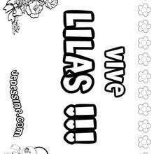 Lilas - Coloriage - Coloriage PRENOMS - Coloriage PRENOMS LETTRE L