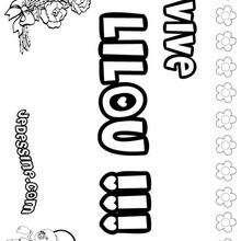 Lilou - Coloriage - Coloriage PRENOMS - Coloriage PRENOMS LETTRE L