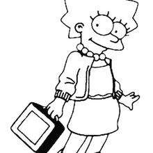 Coloriage de Lisa coquette - Coloriage - Coloriage DESSINS ANIMES - Coloriage SIMPSON - Coloriage LISA SIMPSON
