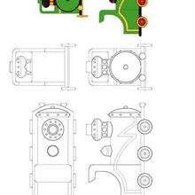 Coloriage de la locomotive verte de Oui-Oui - Coloriage - Coloriage OUI-OUI - Coloriage TRAIN DE OUI-OUI