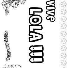 Lola - Coloriage - Coloriage PRENOMS - Coloriage PRENOMS LETTRE L