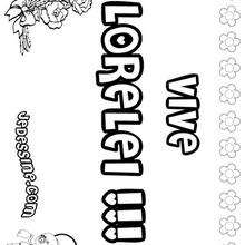 Lorelei - Coloriage - Coloriage PRENOMS - Coloriage PRENOMS LETTRE L