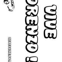 Lorenzo - Coloriage - Coloriage PRENOMS - Coloriage PRENOMS LETTRE L