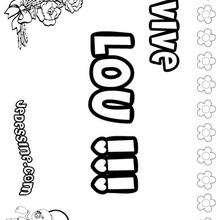 Lou - Coloriage - Coloriage PRENOMS - Coloriage PRENOMS LETTRE L