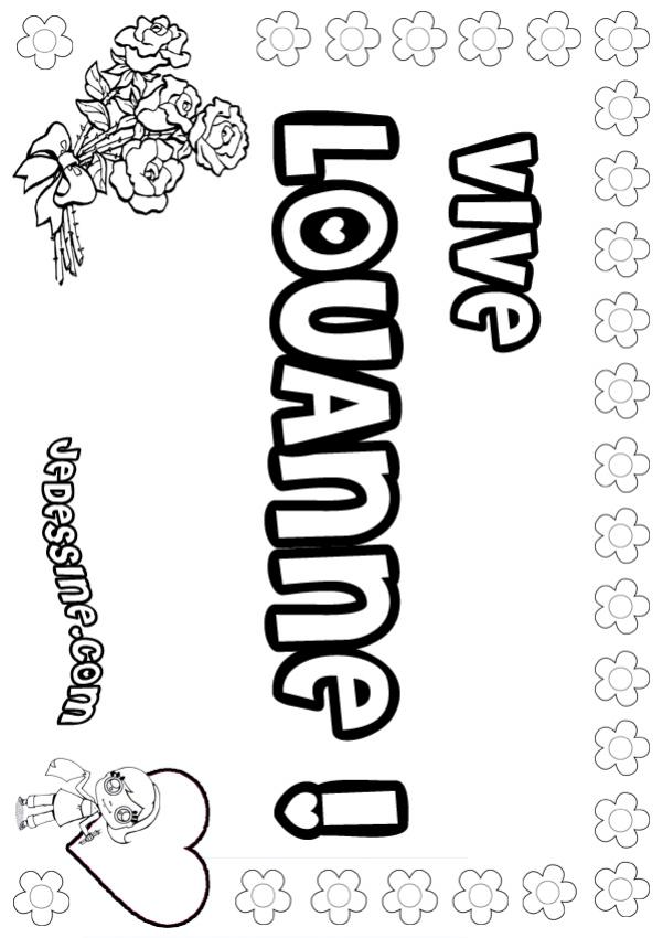 Coloriages louanne - Lou coloriage ...