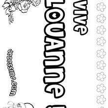 Louanne - Coloriage - Coloriage PRENOMS - Coloriage PRENOMS LETTRE L