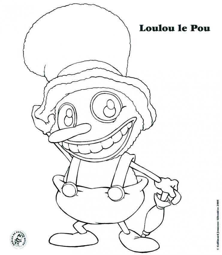 Coloriage Loulou le Pou