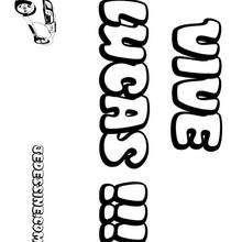 Lucas - Coloriage - Coloriage PRENOMS - Coloriage PRENOMS LETTRE L