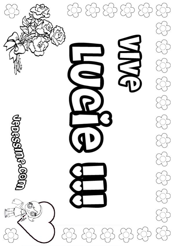 Coloriages lucie - Coloriage lucie ...