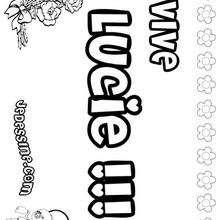 Lucie - Coloriage - Coloriage PRENOMS - Coloriage PRENOMS LETTRE L